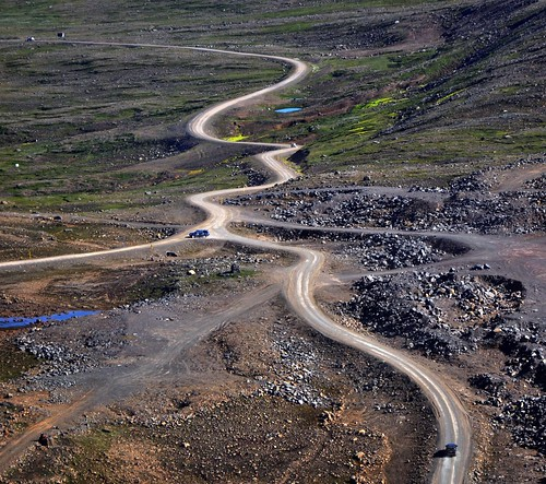 Iceland road: Between Bolungarvik and Skalavik