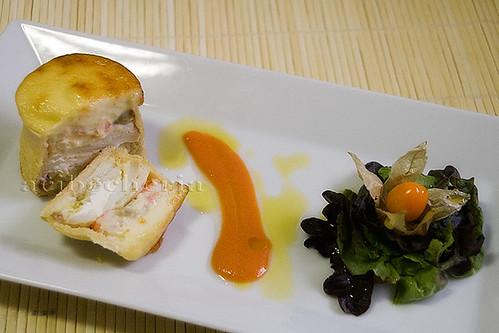 Delicioso Pan relleno de bacalao
