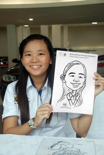 Caricature live sketching for Performance Premium Selection BMW - Day 4 - 9