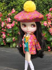 Fukuko in the garden