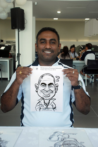 Caricature live sketching for Performance Premium Selection BMW - Day 2 - 6