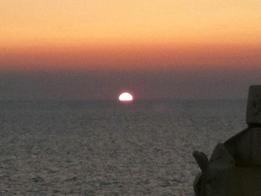 新日本海フェリーから見た夕陽