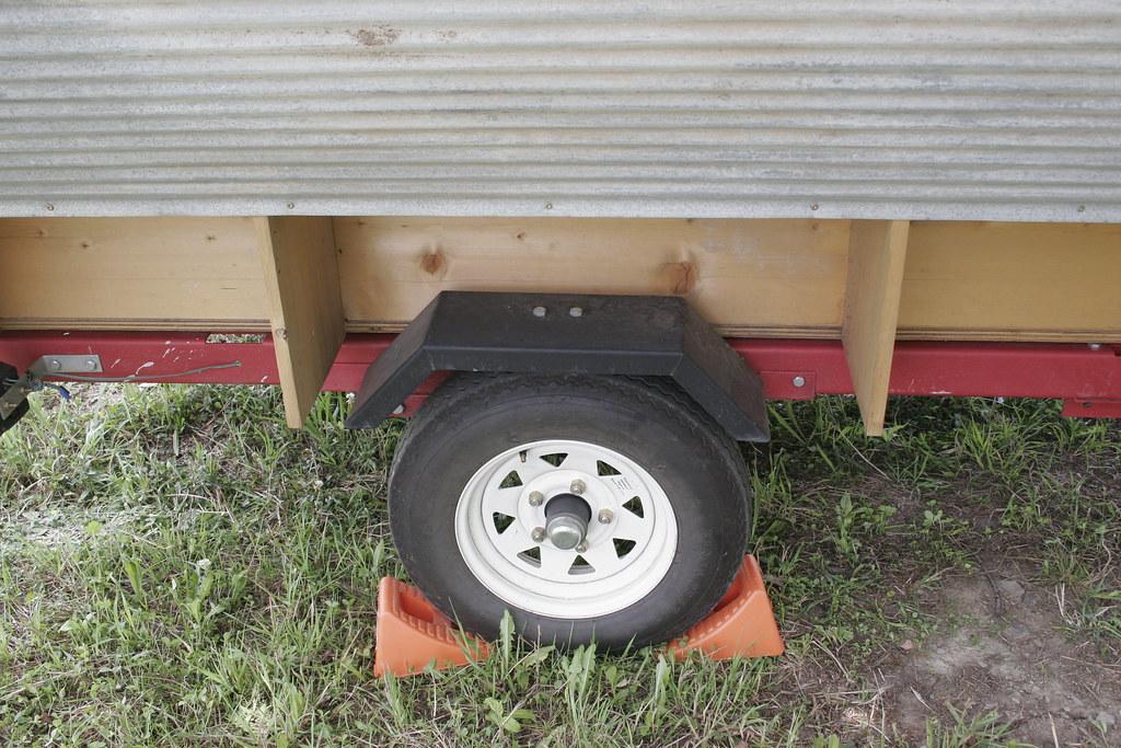 Gypsy Wagon at Rest with Wheel Chocks