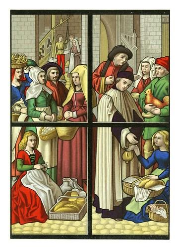 003-El mercado- vitral siglo XV catedral de Tournai-Le moyen äge et la renaissance…Vol III-1848- Paul Lacroix y Ferdinand Séré
