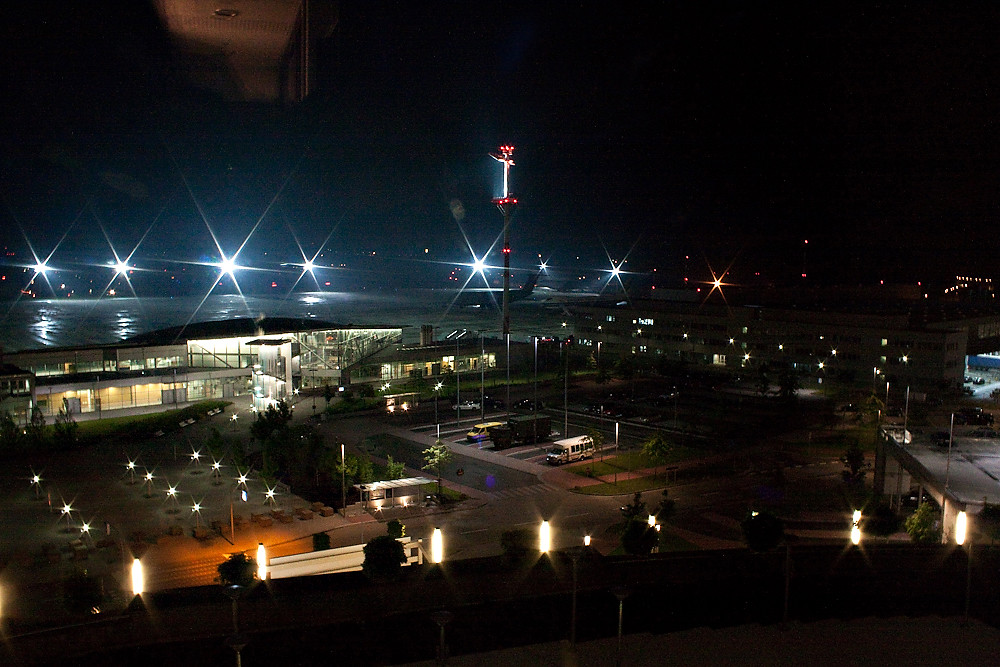 Air Base At Night