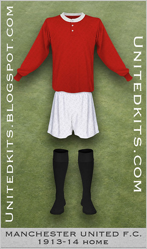 Manchester United 1913-1914 Home kit