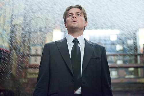 Leonardo DiCaprio as Dom Cobb in Inception