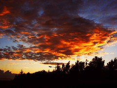 The sky is on fire ! (Colin 117) Tags: sunset summer sky cloud nature clouds fire evening scotland gmt