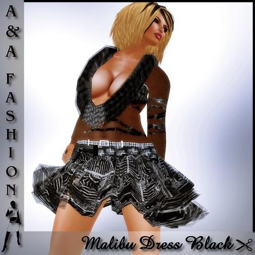 A&A Fashion Malibu Dress Black