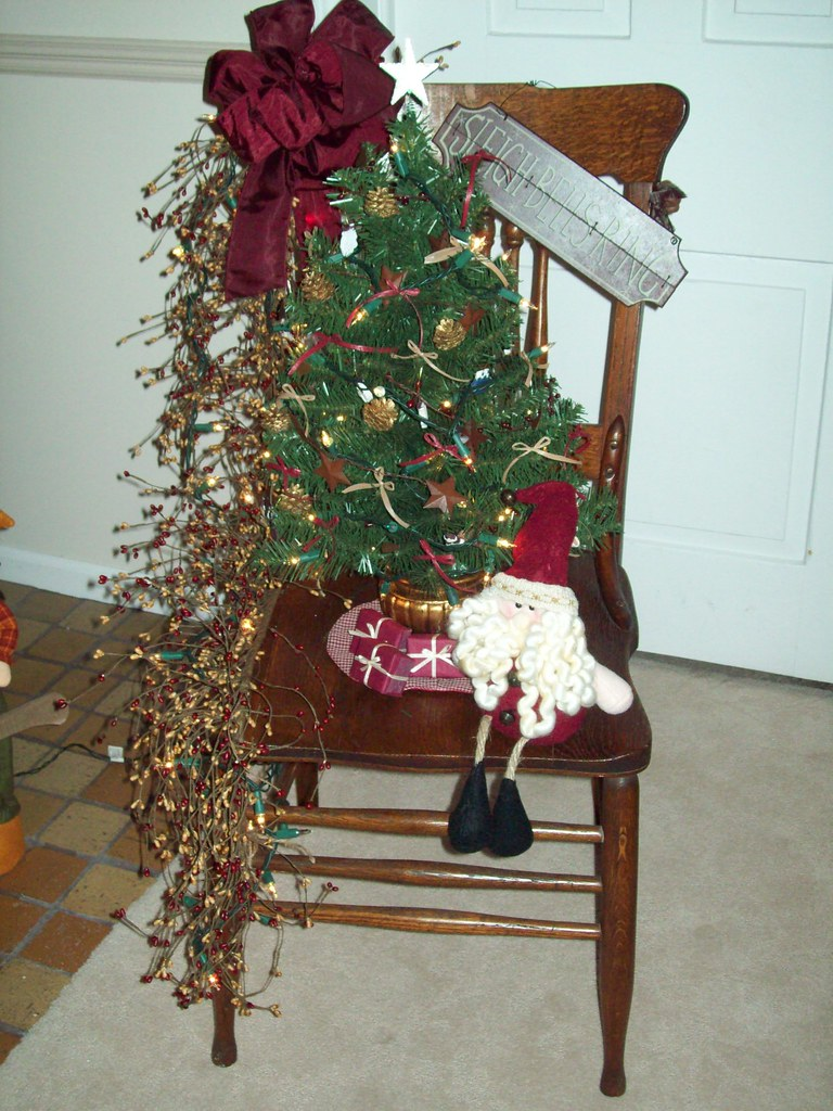 Decorated Christmas Chair!