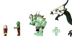 food chain (The Slushey One) Tags: food white green dragon lego dwarf slush chain troll slushy slushee omnomnom