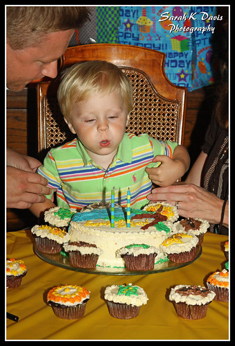 Mac Blowing Out His Candles