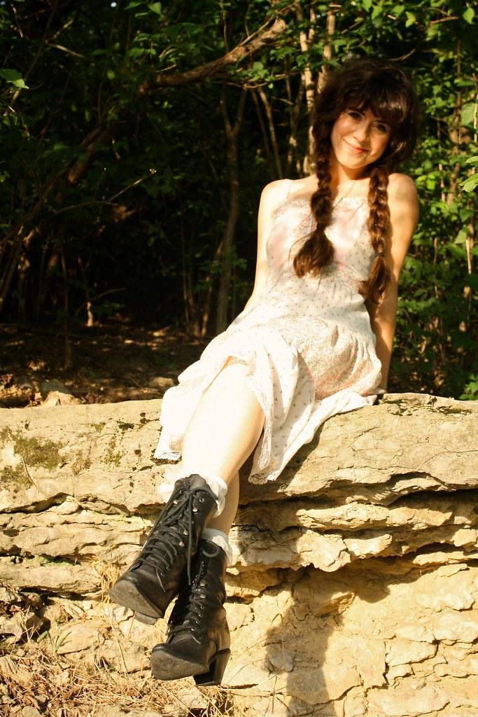 summertime braids and gunne sax dresses