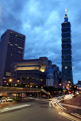 Taipei, City (chloe Q) Tags: downtown taiwan 101 taipei nightview  shinyi