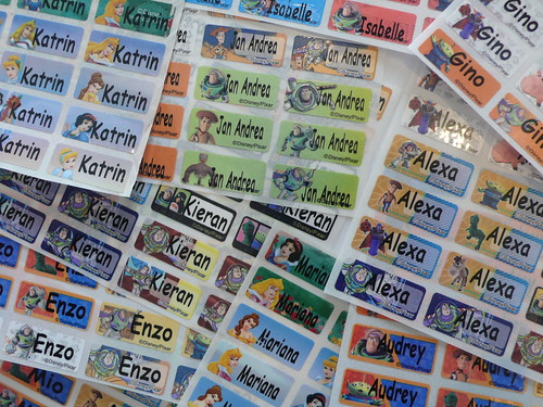 Each kid (and adult) got personalized waterproof stickers