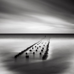 Sketches of Holland VI (Joel Tjintjelaar) Tags: bwphotography daytimelongexposure nd110filter blackandwhitefineart bwfineart silverefexpro tjintjelaar bwnd110filter photoshopcs5 sketchesofholland longexposureseascapes