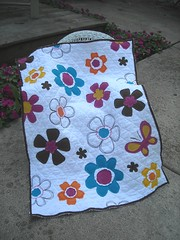 Flower Power Dolly Blanket