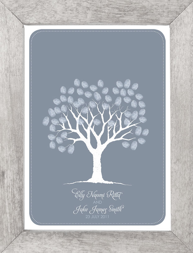winter fingerprint guestbook tree