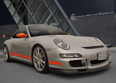 Porsche 911 GT3  RS [Explored] (Tareq Abuhajjaj   Photography & Design) Tags: orange 3 sport speed silver nikon top 911 fast turbo porsche saudi rs  2010 gt3   tareq         d700    tareqdesign abuhajjaj