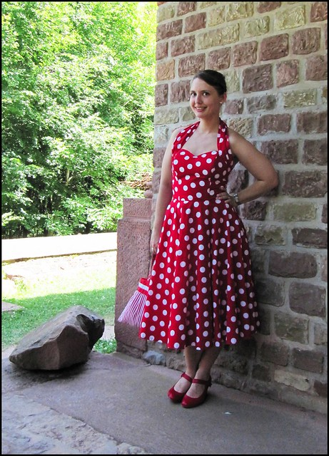 16.7.10: my sister's wedding; fashion, clothes, style, outfit, thrift, thrifted, blogger, blog, creative, colour, color, charity shop, quirky, individual, Vivien of Holloway, polka dots, 1950s, fifties