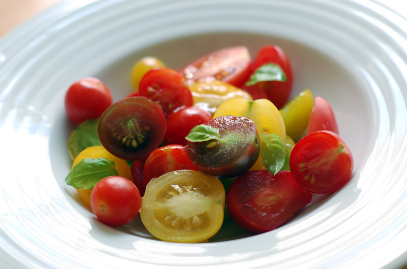 tomates+manjericão