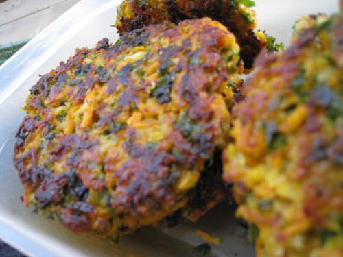 Galette carotte flocons d'avoine 01