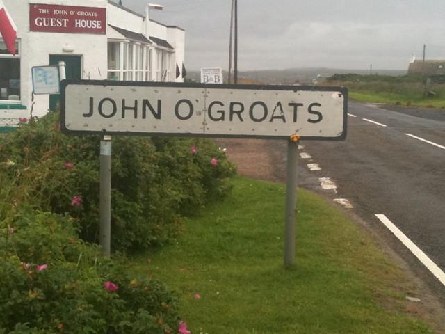 Entering John O'Groats