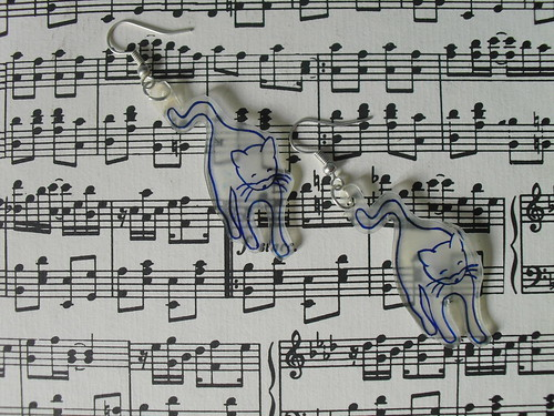 DIY-Miu Miu cat print earrings SS10 (27)
