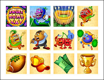 free Fruit Bowl XXV slot game symbols