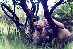 The Weird Girls Project (katrinolafs) Tags: trees girls summer green nature grass fairytale forest project naked nude weird iceland fairy nymph