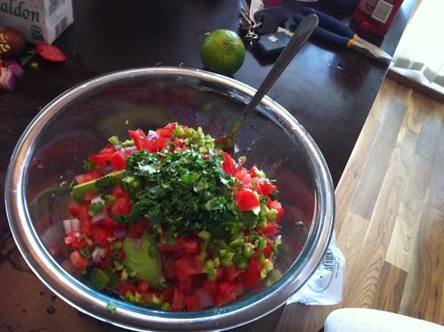 Guacamole before the mash