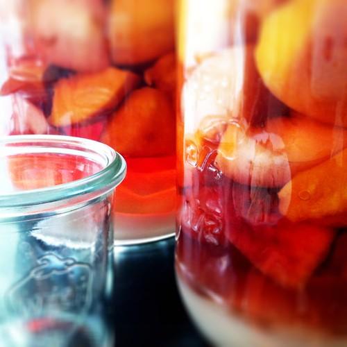 Peach/apricot rumtopf