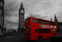 Big Ben and a London Bus (L.A. Scowen) Tags: street uk red england blackandwhite bw bus london westminster photoshop photography blackwhite big flickr ben unitedkingdom britain sony centre capital luke housesofparliament parliament bigben dslr 2010 londonbus cityscene redbus uklondon a230 westminsterlondon ukcapital scowen lukeas09 lukescowen lukeandrewscowen sony230 lukeandrewscowenphotography scowenlukeascowen lukeas10 lukeas2010 lukeandrewscowen2010