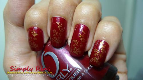 Nail Art - Forever Crimson 01