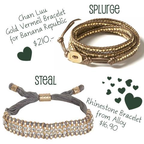 Chan Luu Banana Republic Gold Vermeil Alloy Bracelet