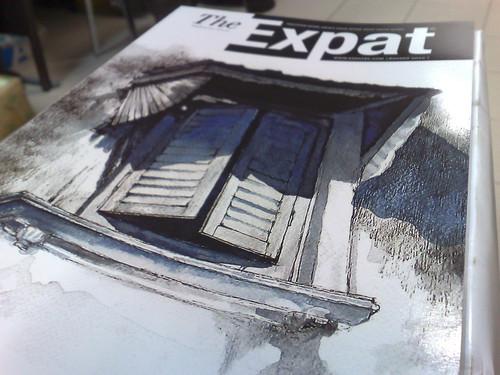 Inspirasi dari Mark Harris – menjadi penghias kulit Majalah The Expat keluaran Ogos 2010