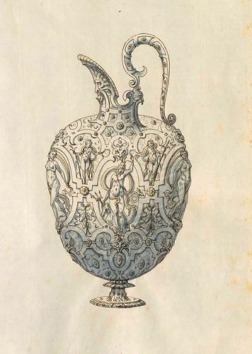 015-Cantaro dispensador de liquidos-Entwürfe für Prunkgefäße in Silber mit Gold-BSB Cod.icon.  199 -1560–1565- Erasmus Hornick