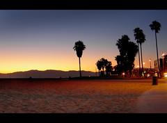 Sundown at Venice beach, California (Ianmoran1970) Tags: california venice sunset mountains colour beach yellow evening la losangeles sand santamonica hills ianmoran ianmoran1970