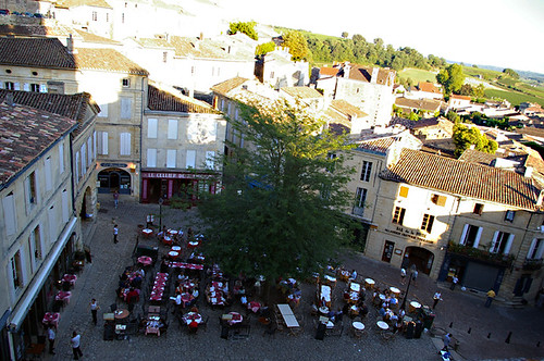 St Emilion plaza above