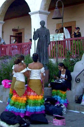 Fiesta Dancers Prepare