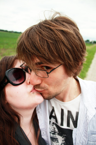 Kisses on the road out of Norwich