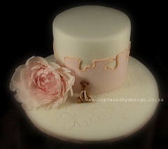 Marle's Christening Cake (Dot Klerck....) Tags: bear cake teddy peony dot christening weddings cupcakesbydesign