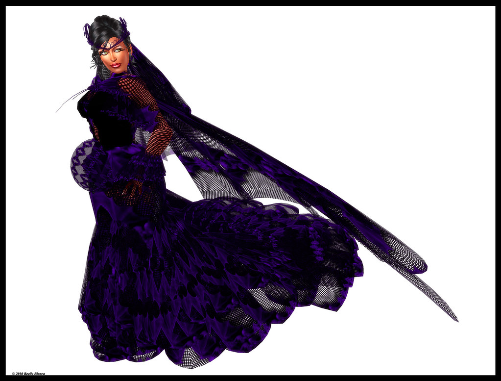 Charltina Christensen Charltina's Asian Gothic Wedding Gown in Purple
