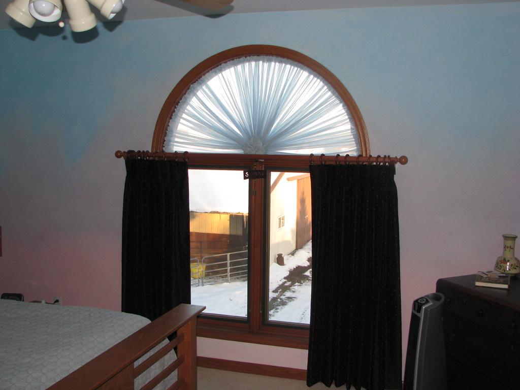 Arch Window Drapery Arch Window 8x8 Gazebo Canopy