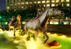 The Mustangs of Las Colinas (todd landry photography) Tags: las sculpture fountain dallas high nikon texas dynamic irving range hdr mustangs lascolinas colinas d90