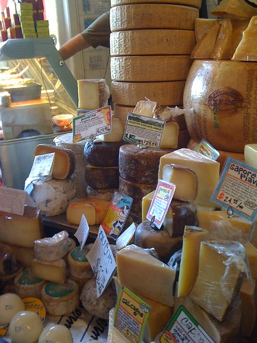 the many cheeses at Zingerman's deli