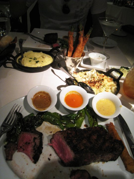 Steak at Botero restaurant at Encore Wynn hotel in Vegas