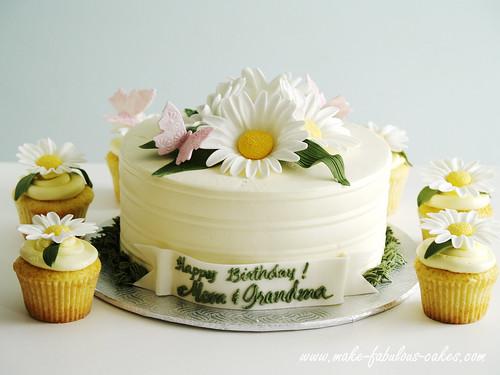 Wondrous Daisy Birthday Cake A Photo On Flickriver Funny Birthday Cards Online Alyptdamsfinfo