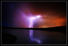 Lightning over Lucky Peak (Dylan MacMaster) Tags: idaho lightning fcs luckypeakreservoir fotocompetitionbronze