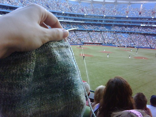 knitting at jays game